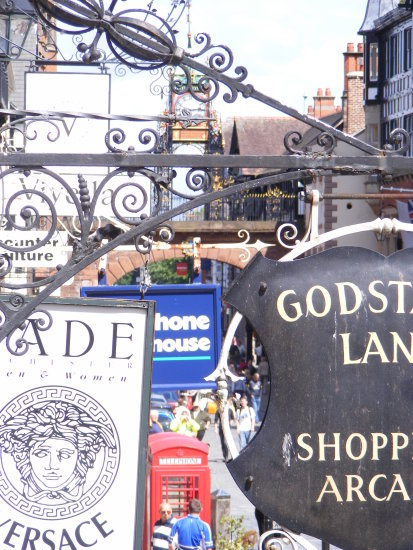 Signs Chester City Centre Chester Cheshire England