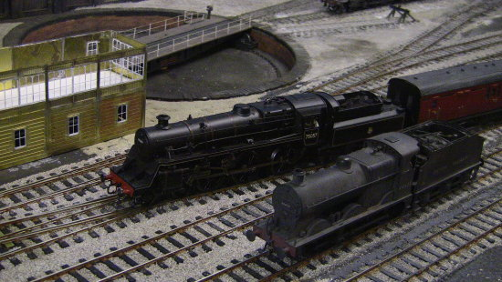 model engine train trains diorama toy scale station electric steam wag