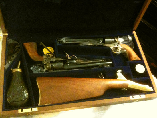 Colt twin revolver in box