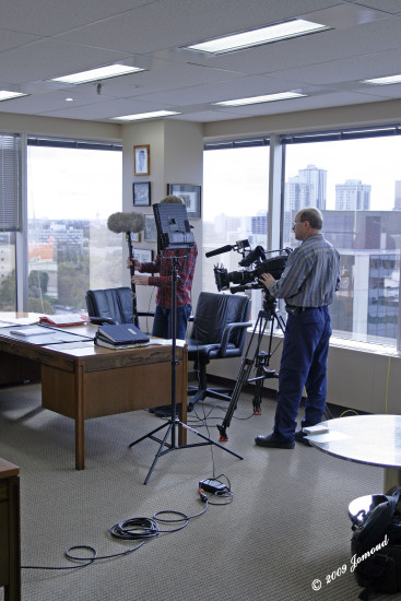 people movieset filming television documentary102009