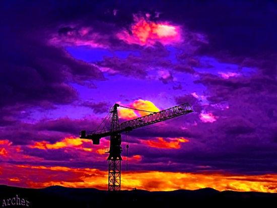 crane sky colour color archer