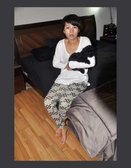 ah ting with her new pet