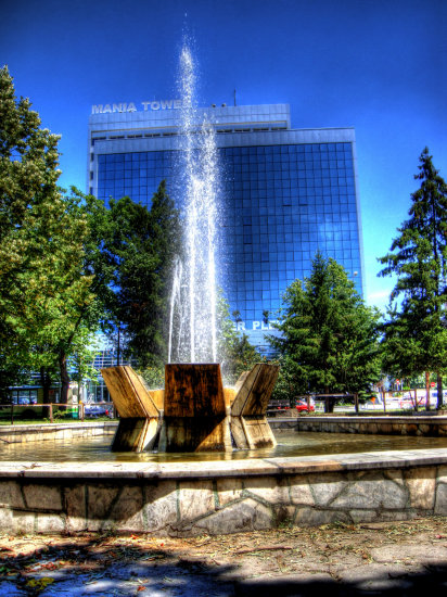 building architecture hdr photomatix fountain agua fuente water park street