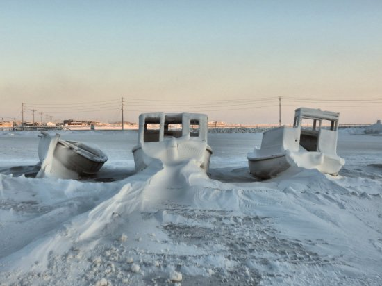 The Arctic Ocean at the top of the world, Barrow, Alaska...northernmost community in North America