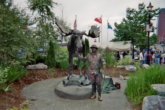 Busker mime theater SaintJohn newbrunswick canada 2007 Sculpture