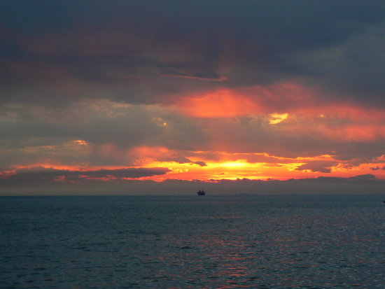 sunset sea TRIESTE