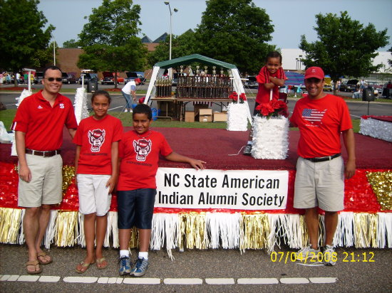Locklear Lumbee Homecoming parade NC State wolfpack