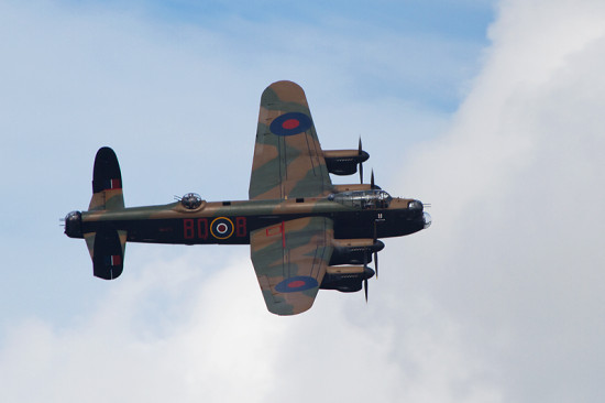 Lancaster Bomber Aeroplane Aircraft Warbird Battle Of Britain
