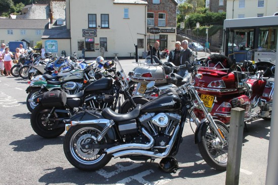 england lynmouth vehicles motorcycles people