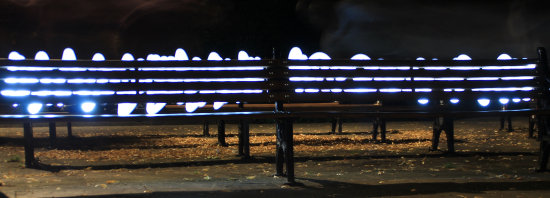 chester england benches lights night