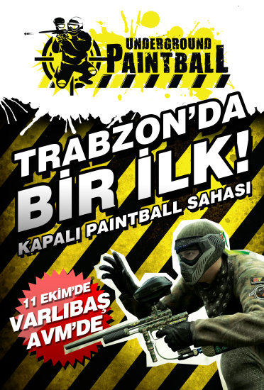Trabzon paintball avm varlba spor kapali underground paintball