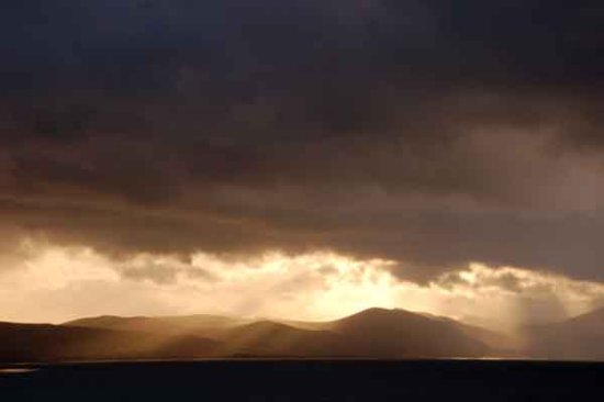 sunset evening cloud west mish mts kerry