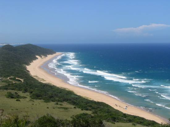 View of the Mosambiek beach, from the top of a hill