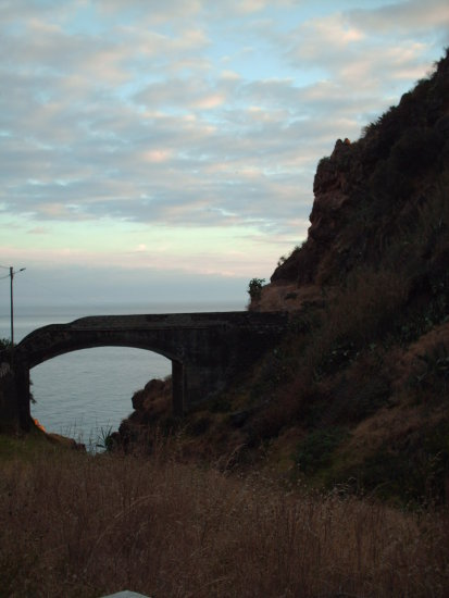 madeira portugal 2008 pontadosol bridgesfriday old path walway dusk
