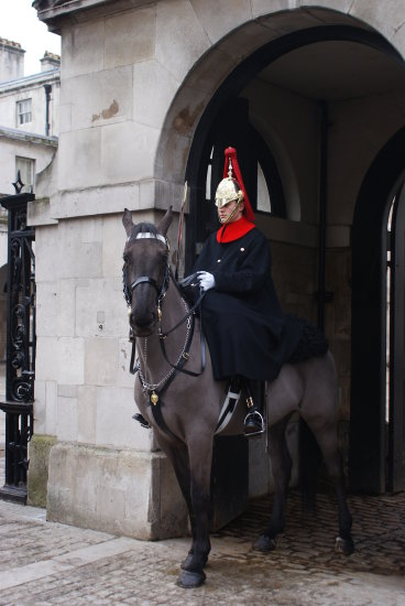 guard on horse
