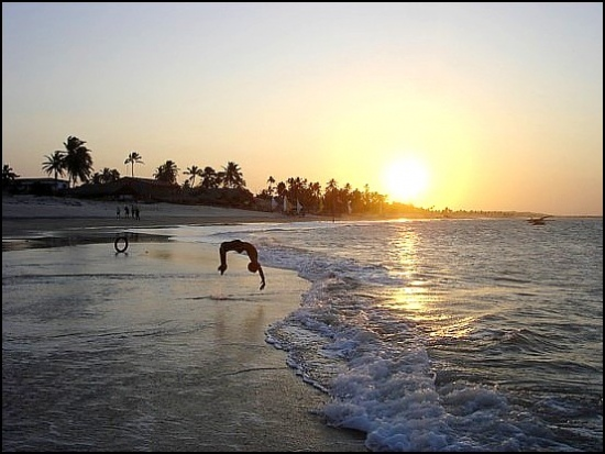 brazil brasil beach acrobat sunset child cumbucu