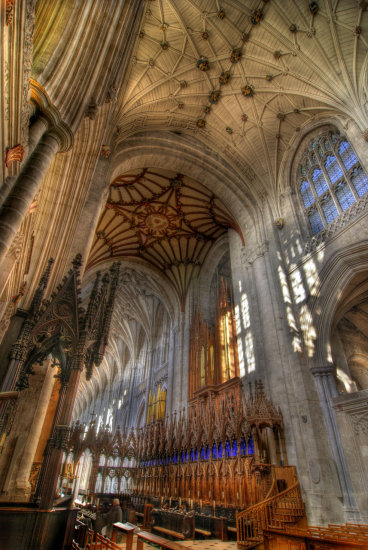 HDR Architecture Cathedral Winchester