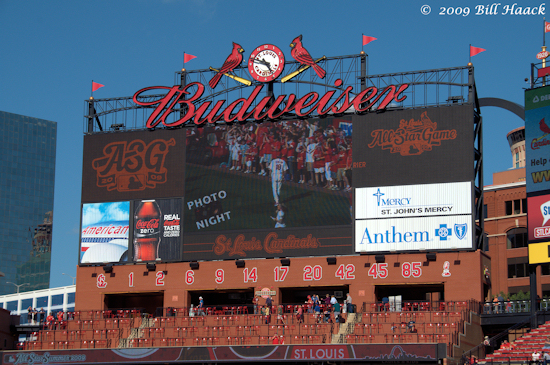 stlouis missouri us usa baseball stadium busch mlb cardinals arch 082909