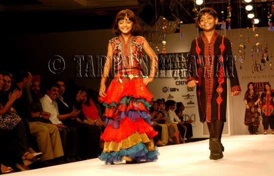 Slumdog Millionaire child actors Mohammed Azharuddin Ismail Rubina Ali Fashion