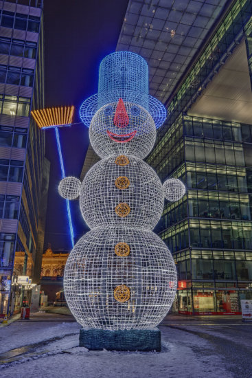 UWP Udo Wolter HDR snowman winter xmas