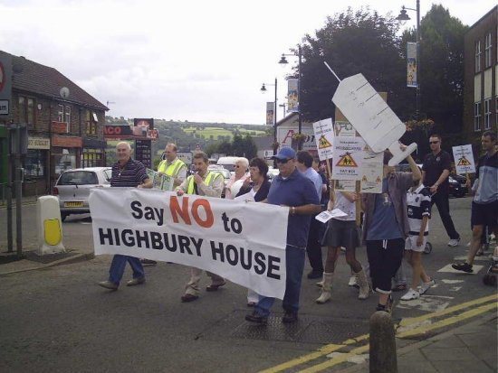 highbury house blackwood gwent protest march