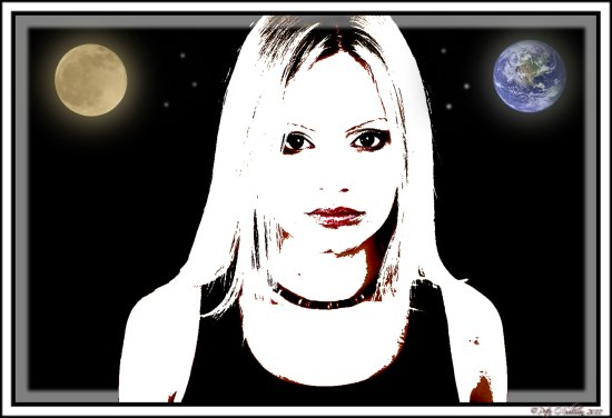 Caitriona Portrait Moon Earth Peter_OSullivan digitalartclub