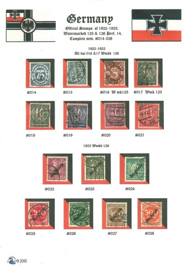 Germany Stamps Official Mail