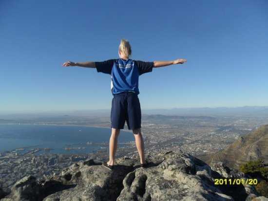 Me in Africa on Table Mountain