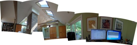 New toy!  Microsoft's Photosynth, 64bit for PC... Here is a loose sweeping panorama of my work sp...