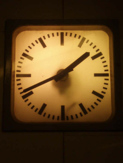clock watch dark subway underground Berlin