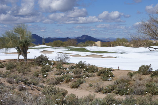 Golf Golfcourse snow Arizona CaveCreek Desert Southwest