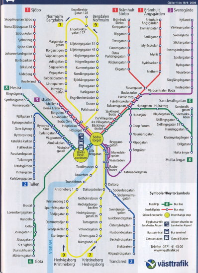 What About The New Bus Route Map Of Our Town Done In The Style Of - Sweden bus map