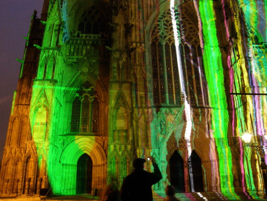 york cathedral illuminated