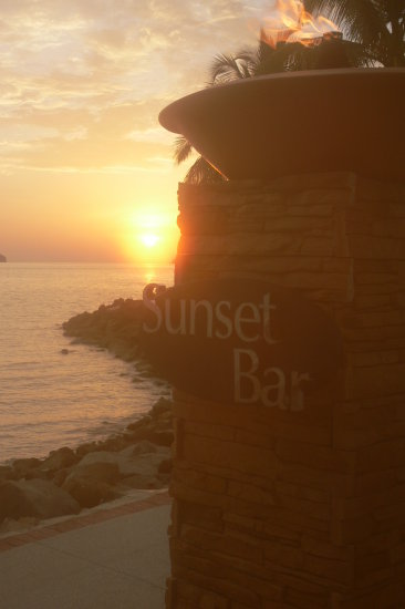 sunset bar sunset sea kota kinabalu