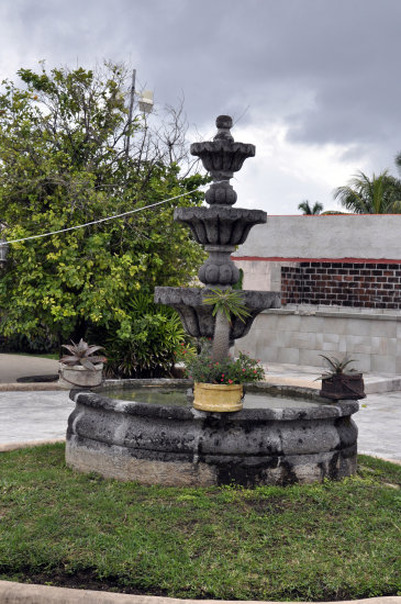 westerncaribbean cruise cozumel mexico fountain plants