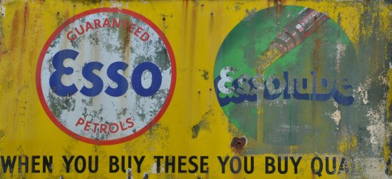 """An old abandoned petrol station sign in Wales. They may have been """"quality"""" 20 years ago.  Today..."""