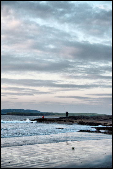 fishing at rosses point sligo ireland