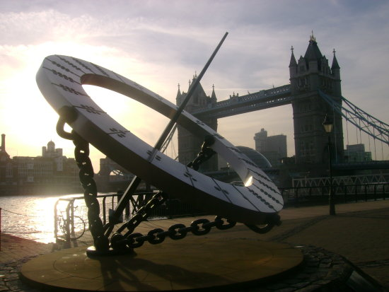 tower bridge art sun dial london