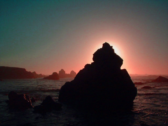 Corona Sea Stacks at Sunset (MacKerricher State Park - July 2006)