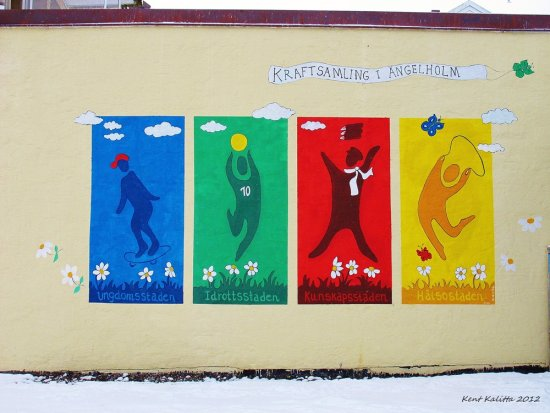 Wall Painting Angelholm 2012 December Skane Sweden