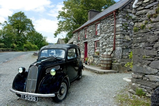 vintage Bonane Kerry Ireland cottage car auto