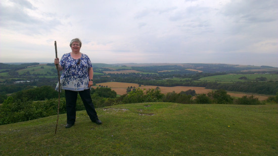August 2012 - Summer Break  34. On our way to our next stop we went for a walk on Cissbury Ring...