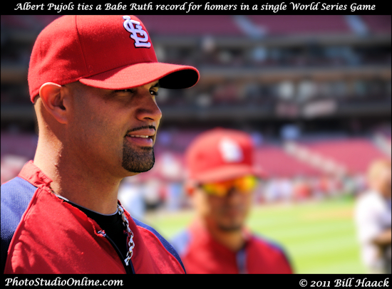 stlouis missouri usa baseball cardinals playoffs win Albert Pujols 082711
