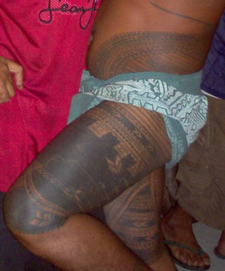 A Samoan male tattoo from the