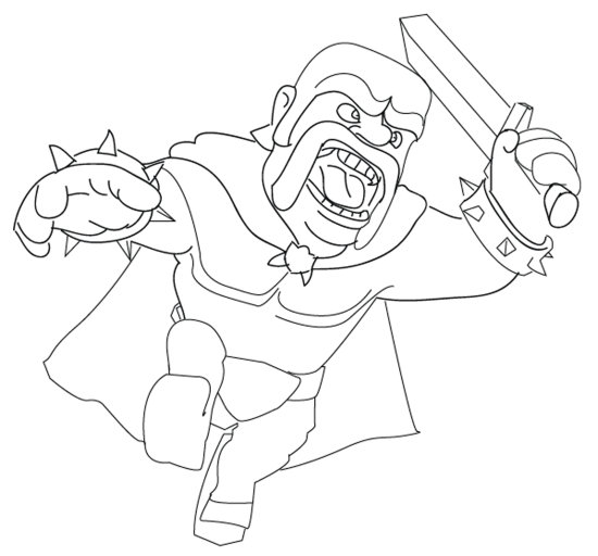 Clash Clans Coloring Pages Sketch Coloring Page