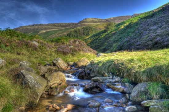 Peak District Derbyshire Grindsbrook Kinder Scout