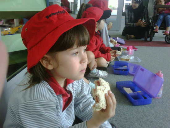 "ADRIANITA 2/4...""Adrianita eating her 'kiwi' school lunch""..as our dear friend MargNZ put it.