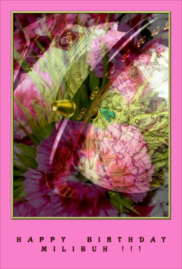 i'm sending some flowers and my best wishes your way, querida !!!! have a very happy, cakeful, d...