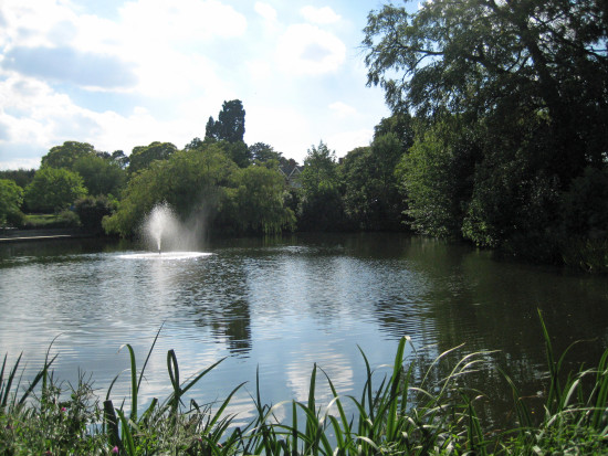 Visit to Bletchley Park and South Coast - Friday 19th August 2011   10. The view across the lak...