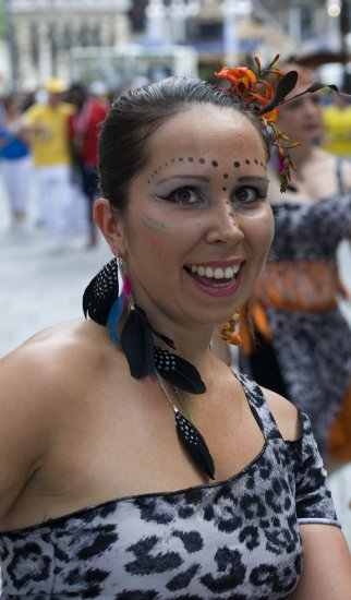 Caribbean carnival in Nottingham today,  happy person